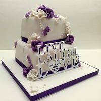 Live, Laugh, Love Wedding Cake