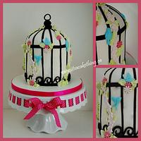 Bird Cage Birthday Cake