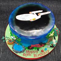 Star Trek cake, with a twist!