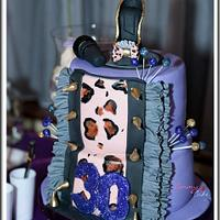 shoe with ruffles cake by Emmy