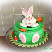 Happy Rabbit Easter Cake