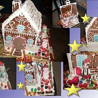 santa claus's gingerbread house