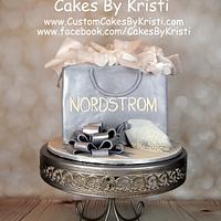 Nordstrom Shopping Bag Cake