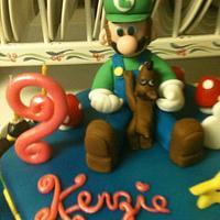 Luigi Birthday Cake  by Margarida Myers