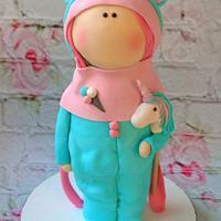 Unicorn Doll Cake