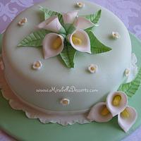 Calla lilies cake by Mira - Mirabella Desserts
