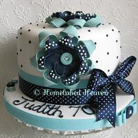 Sugar ribbon corsage cake by Amanda Earl Cake Design
