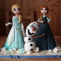 Frozen - sculpted cake