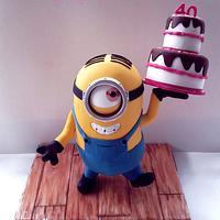 My 40th birthday Minion cake