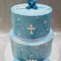 Baptism marble cake