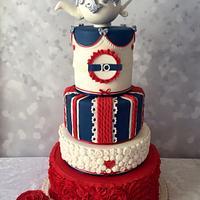 British themed cake