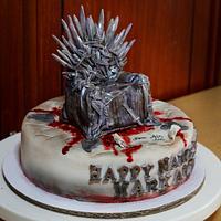 Bloody Iron throne on Name Day