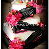 Pink & Black Wedding