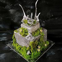 Metal-moss cake