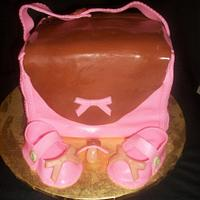 Diaper Bag Cake by caymancake