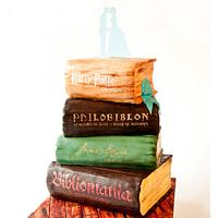 Vintage Books Wedding Cake