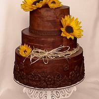 Ganache & sunflowers..