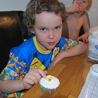 My boys decorate their first cupcakes :) by Eva S Sigurðardóttir