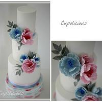 Wedding cake in Pantone color of 2016