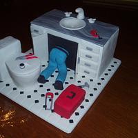 Plumber's birthday cake