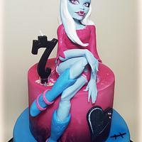 Abbey Bominable: Monster High cake❤