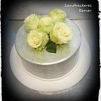 Luster Dust Silver Birthday Cake