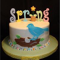 Spring Has Sprung Cake & Cupcake Tower