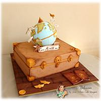"""Come fly with me"" wedding cake"