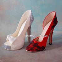 High heels sugar shoes
