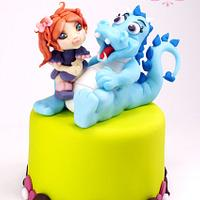 The Dragon of Tillie by Ylenia Ionta - SweetArt Cake Design