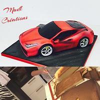 Carved cake Ferrari