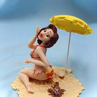 """With the humour in cakes through life! """"At this time on a sunny beach.."""""""