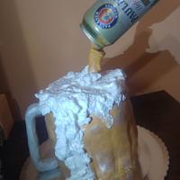 Paulaner beer cake