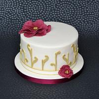 Vintage Dress Inspired Cake