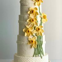 Daffodil spring cake