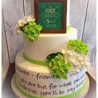 Love quotes wedding cake