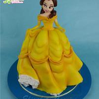 Princess Belle sculpted cake