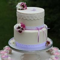 wedding romantic cake :