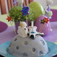 NASA cake for my son´s 5th Birthday by Tynka