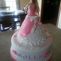 Barbie doll cake.