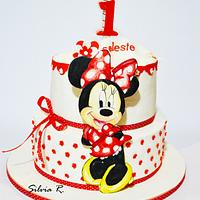 painted minnie cake