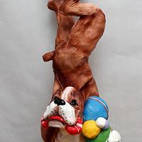 3D cake. Boxer dog