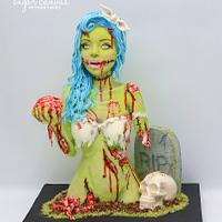 pin-up style zombie