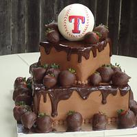Texas Rangers grooms cake