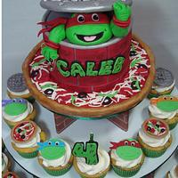 Teenage Mutant Ninja Turtles Cupcake Tower
