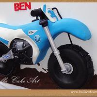 Motorbike cake by Bella Cake Art