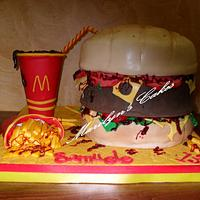 CHEESEBURGER Cake :-)