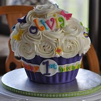 Fun 1st Birthday Giant cupcake!