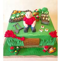 Gardening birthday cake!