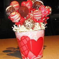 Raspberry Kissed Chocolate Cake Pops!